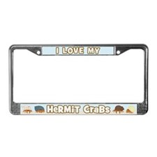 I Love My Hermit Crabs License Plate Frame