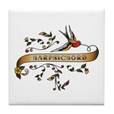Harpsichord Scroll Tile Coaster
