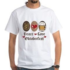 Peace Love Oktoberfest White T-Shirt