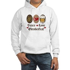 Peace Love Oktoberfest Hooded Sweatshirt