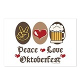 Peace Love Oktoberfest Postcards (Package of 8)
