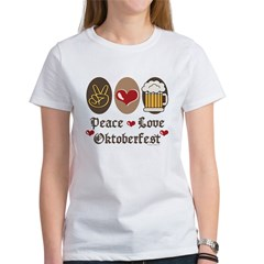 Peace Love Oktoberfest Women's T-Shirt
