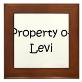 Funny Levi Framed Tile