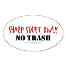 Sharp Stuff Only Oval Sticker (50 pk)