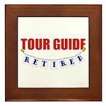 Retired Tour Guide Framed Tile