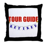 Retired Tour Guide Throw Pillow