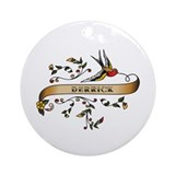 Derrick Scroll Ornament (Round)