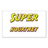 Super kourtney Rectangle Bumper Stickers