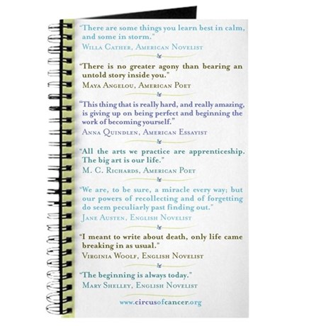 inspiring quotes journal by circusofcancer