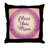 Bless You Mom Throw Pillow