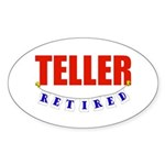Retired Teller Oval Sticker (50 pk)