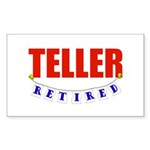 Retired Teller Rectangle Sticker 50 pk)