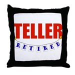 Retired Teller Throw Pillow