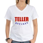 Retired Teller Women's V-Neck T-Shirt
