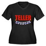 Retired Teller Women's Plus Size V-Neck Dark T-Shi