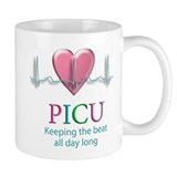 PICU Keeping the beat all day Small Mug