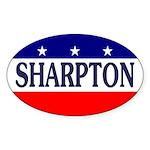 Al Sharpton Oval Bumper Sticker