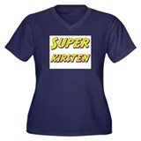 Super kirsten Women's Plus Size V-Neck Dark T-Shir