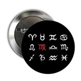 "Zodiac Signs Virgo 2.25"" Button (10 pack)"