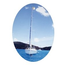 Beach/Sailing - Gift Ornament/Keepsake Oval