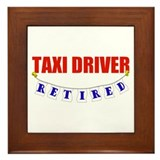 Retired Taxi Driver Framed Tile