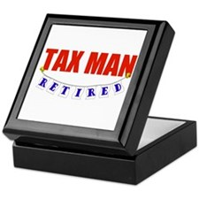 Retired Tax Man Keepsake Box
