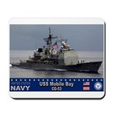 USS Mobile Bay CG-53 Mousepad