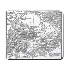 Ancient Athens Map Mousepad