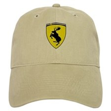 Prancing Moose Cotton Baseball Cap KHAKI