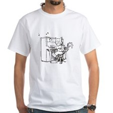 Catoons piano cat Shirt