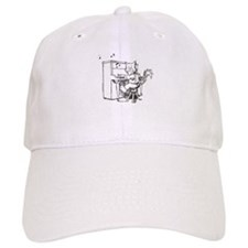 Catoons piano cat Baseball Cap