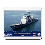 USS Thomas S. Gates CG-51 Mousepad