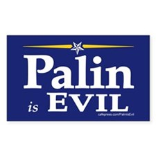 Palin is evil bumper Rectangle Sticker 10 pk)