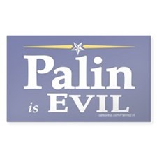 Sarah Palin is evil Bumper Decal