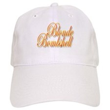 Blonde Bombshell White Baseball Cap