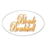 Blonde Bombshell Oval Decal