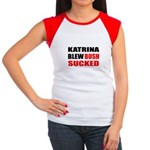 Katrina Blew, Bush Sucked Women's Cap Sleeve T-Shi