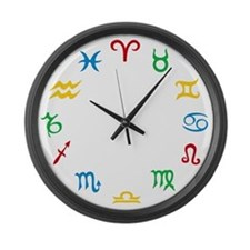Signs Of The Zodiac - Colorful Large Wall Clock