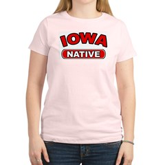 Iowa Native Women's Pink T-Shirt