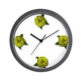 Yellow Rose Clock
