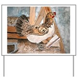 chicken farm animal pet art g Yard Sign