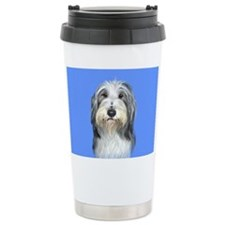Bearded Collie Ceramic Travel Mug