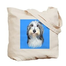 Bearded Collie Blue Tote Bag