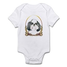 Puppy Shih Tzu Christmas Infant Bodysuit