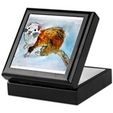 ferret pet animal art gift Keepsake Box