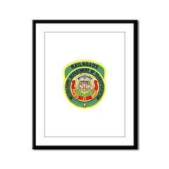 Mississippi Railroads Framed Panel Print