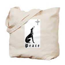 Greyhound Christmas Peace Tote Bag