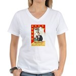 Romantic Thanksgiving Women's V-Neck T-Shirt