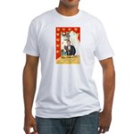 Romantic Thanksgiving Fitted T-Shirt