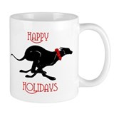 Greyhound Happy Holidays  Tasse